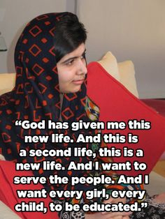 She took the opportunity to throw her support behind The Malala Fund, an education charity that recently launched with a ten million dollar donation from Pakistan. See Malala Yousefzai speak publicly for the first time since being shot by the Taliban. Malala Yousafzai, Great Women, Amazing Women, Karma, Faith In Humanity, Women In History, Powerful Women, Change The World, Good People