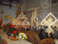 Paper Chandelier, The Last Straw, Winter Solstice, Handmade Ornaments, Dream Catchers, Folklore, Twine, Christmas Tree, Crafty