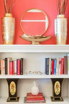 Styled bookshelves w