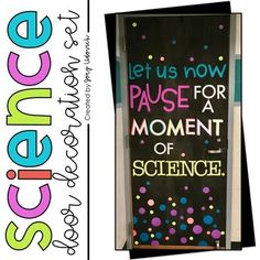 Science Door Decoration Set - This is a great download for the science teacher or classroom. Use it ANY time of year to decorate a bulletin board, hallway display, or classroom door. It's perfect for ANY grade level - elementary, middle, or high school. Click through to grab it today! (2nd, 3rd, 4th, 5th, 6th, 7th, 8th, 9th, 10th, 11th, 12th grade) Elementary Science Classroom, High School Classroom, Classroom Door, Math Education, Classroom Ideas, Science Door Decorations, School Door Decorations, 7th Grade Science, Middle School Science