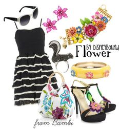 I love the dress and shoes in this collection by DisneyBound.