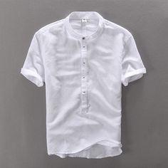 New High Quality leisure Linen Shirts 2016 Summer Men Fashion Style Brand Short Sleeved Shirts Men Free Shipping