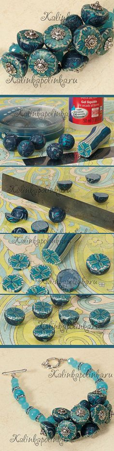 Revive old beads with a new cane slice top.FREE POLYMER CLAY TUTORIAL: link for kaleidoscope tutorial in text of page. мастер-класс по утилизации запеченных бусин.