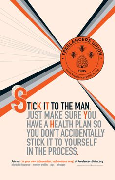Stick it to the man. Just make sure you have a health plan so you don't accidentally stick it to yourself in the process