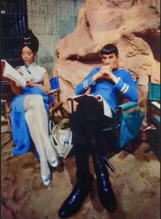 Star Trek episode Amok Time - Arlene Martel as T'Pring & Leonard Nimoy as Spock - pin by Mande