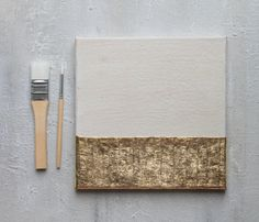 Abstract Painting Gold leaf 8x8x06 art painting