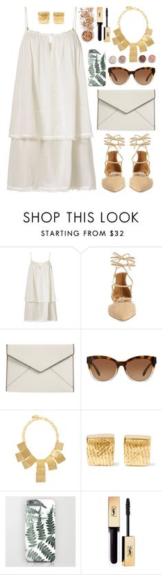 OOTD • White Dress by by-jwp on Polyvore featuring Heidi Klein, Steve Madden, Rebecca Minkoff, Kenneth Jay Lane, Cornelia Webb, Michael Kors, In Your Dreams, Terre Mère, summerstyle and summerdress