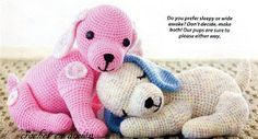 Free pattern for these cute little puppies.  The website is in Spanish but the instructions are in English.