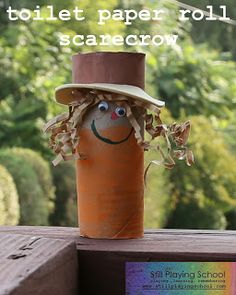 Toilet Paper Roll Scarecrow