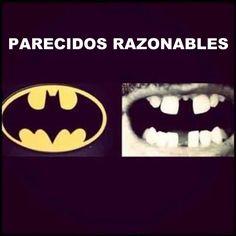 Parecidos razonables: Batman y dentadura