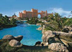 Atlantis Bahamas is a resort and water park - fun for the whole family! #yahoo2012