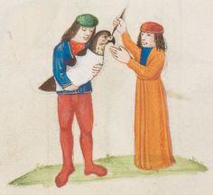 Friedrich II. von Hohenstaufen, Livre de l'art de chasser au moyen des oiseaux Bruges · ca. 1485-1490 Ms. fr. 170  Folio 168v