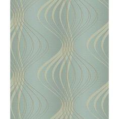 "York Wallcoverings Glam Wind Sculpture 33' x 20.5"" Geometric 3D Embossed Wallpaper Color:"