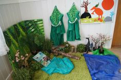 """Loving the addition of the dino dressing gowns to this dinosaur area - from Fantasifantasten ("""",) Dress Up Area, Book Area, Foundation Stage, Family Day Care, Dramatic Play, Preschool Kindergarten, Eyfs, Imaginative Play, Role Play"""