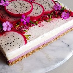 A nourishing raw vegan cheesecake to start the week! Layers of mixed berry creme, vanilla creme & coconut whip on a crunchy buckwheat, walnut & coconut crumble base. You don't have to be vegan, dairy-free, gluten-free or sugar-free to enjoy this kind of treat. When made just right, they're divine!