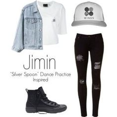 "Jimins ""Silver Spoon"" Dance Practice Inspired Outfit"