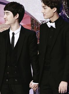 Kai and Kyungsoo. I knew it there's something going on between these two their always holding hands like a couple