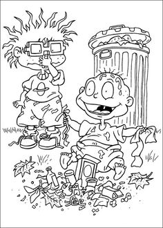Arnold is reading coloring pages for kids, printable free - Hey ...