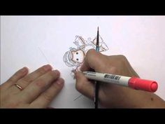 Distress Ink Colouring Tutorial 5 - Adding Detail to Hair - YouTube