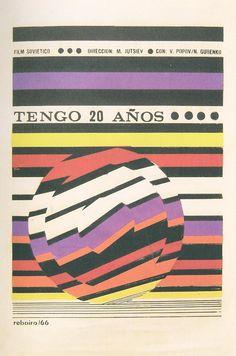 """I Am Twenty"" (1965) - Cuban poster by Antonio Reboiro"