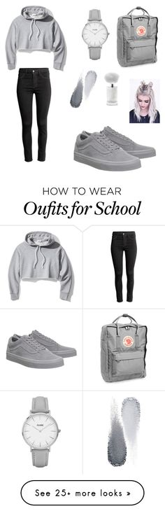 """Outfit for school"" by hvkg on Polyvore featuring Frame, Vans, CLUSE, Clé de Peau Beauté and Fjällräven"