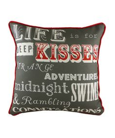 1afddd6cf8e Take a look at this Kisses Filled Cushion by Evans Lichfield on  zulily  today!