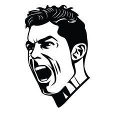 Cristiano Ronaldo - Free vector image in AI and EPS format. Ronaldo Football, Messi And Ronaldo, Ronaldo Juventus, Cool Art Drawings, Pencil Art Drawings, Messi Drawing, Football Player Drawing, Marshmello Wallpapers, Japan Tattoo Design