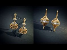 LATEST DESIGNER JHUMKAS BY BLUESTONE - YouTube