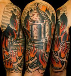 Tomb & Skull Tattoo.