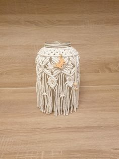 Flowers In Jars, Jar Lanterns, Macrame Patterns, Boho, Yarn Crafts, Plant Hanger, Projects To Try, Etsy Shop, Calla Lilies