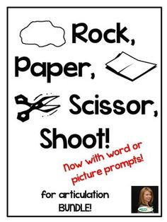 BUNDLE to save!  This bundle contains all of my popular Rock, Paper, Scissor games (still available individually) at a savings of  20%!***Recently revised!  Now includes additional picture prompt decks!***Rock, Paper, Scissor, shoot! This card game is based on the classic hand game that kids already know and love.