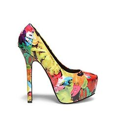 Women's pumps from Steve Madden can accentuate any outfit. From classic looks to trendy takes, our pump shoes and heels are ready to rock your walk. Colorful Wedding Shoes, Unique Wedding Shoes, White Wedding Shoes, Colorful Shoes, Fly Shoes, Sock Shoes, Cool High Heels, Sexy Heels, Steve Madden Pumps