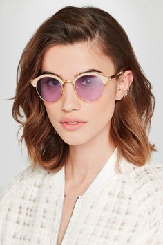 SHERIFF&CHERRY St Barts round-frame acetate and metal sunglasses
