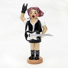 "Vogtland-Souvenir`s - Räucherfrau ""Rock-Metall-Lady"""