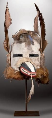 HONÀNKATSINA - Masque Heaume Honan Kachina, Badger Kachina