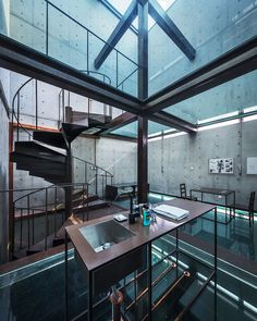 Shanghai experiment with open space and see through floors.