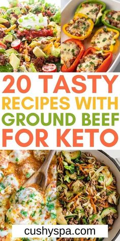 You can easily make your ketogenic meal plan more exciting when you incorporate these delicious keto recipes with ground beef. These keto beef dishes will help you save money with low cost ground beef while staying in ketosis. #Keto #Ketogenic Ground Beef Keto Recipes, Low Carb Recipes, Healthy Recipes, Healthy Food, Yummy Food, Tasty, Keto Diet For Beginners, How To Eat Paleo, Beef Dishes