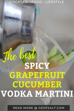 Are you into spicy drinks? Then you should try this grapefruit cucumber vodka martini that is spicy and refreshing. This drink has the perfect balance of spicy and sweet. Check the recipe to complete your party. #ounceofsalt #grapefruitcucumbervodkamartini #spicyvodkamartini Delicious Recipes, Healthy Dinner Recipes, Great Recipes, Yummy Food, Cucumber Vodka, Grapefruit Juice, Easy One Pot Meals, Easy Weeknight Dinners, Easy Cooking