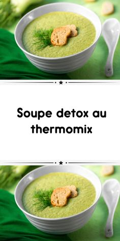 Soupe detox au thermomix - Edeline Ca. Diet Soup Recipes, Healthy Recipes, Prep & Cook, Light Soups, 7 Day Diet, Scones Ingredients, Cabbage Soup Diet, Quick And Easy Soup, Weight Loss Soup
