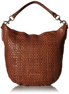Women's Shoulder Bags - Liebeskind Berlin Robin Woven Cognac ** Visit the image link more details.