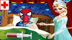 Nữ Hoàng Elsa làm Bác Sĩ chích thuốc cho Người Nhện (Jack) bị ốm