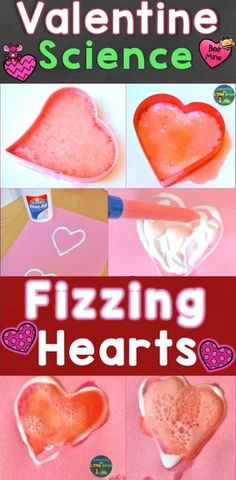 Fizzing hearts valentine science experiment plus 8 more engaging, hands-on Valentine s Day science experiments amp; STEM activities for primary students. Easy set up, can be quickly added to your existing valentine lessons or theme. Baking Soda Experiments, Science Experiments For Preschoolers, Preschool Science Activities, Cool Science Experiments, Easy Science, Science Lessons, Science For Kids, Food Science, Stem Science