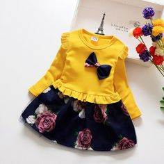 Girls Spring Dresses, Baby Girl Party Dresses, Toddler Girl Dresses, Dress Party, Fashion Wear, Kids Fashion, Autumn Fashion, Fashion 2020, Spring Fashion