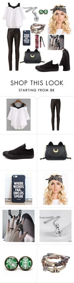 """Untitled #155"" by courtneybells ❤ liked on Polyvore featuring beauty, rag & bone, Converse, Usagi and Kylie Cosmetics"
