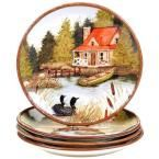 10.75 in. Lake Life Dinner Plate (Set of 4)