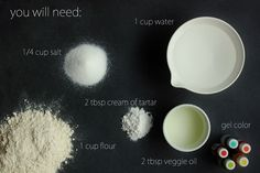 Found on Hellobee.com! diy playdough recipe