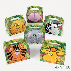 Safari Theme Baby Shower Favor Boxes; Animal favor boxes; Unisex Shower Favor Boxes; Jungle Themed Baby Shower; Unique Shower Favor Boxes by trishah55 on Etsy