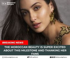 """Bollywood Galiyara on Instagram: """"The Moroccan beauty is super excited about this milestone and thanking her fans, follow us @bollywoodgaliyara Read More -…"""""""