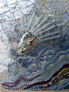 "Carol Walker, Crinkle (detail) 5x6"", 1-2012 #fiber art #embroidery"