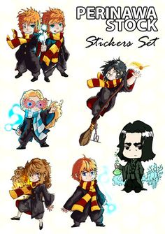 Harry Potter Stickers set. Set of Harry Potter stickers.